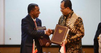 Menhub Tandatangani MoU Dengan Timor Leste, Tingkatkan Sektor Transportasi
